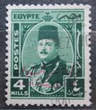 Poštovní známka Egypt 1952 Král Farouk přetisk Mi# 359