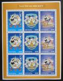 Poštovní známky Guyana 1996 Disney, Mickey Mouse Mi# 5638-40 Bogen Kat 18€