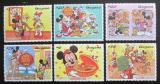 Poštovní známky Guyana 1997 Disney, Čínský nový rok Mi# 5821-26