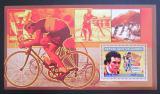 Poštovní známka Guinea 2006 Cyklistika, Bernard Hinault DELUXE Mi# 4468 Block