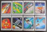 Poštovní známky Rwanda 1970 Let na Měsíc, Apollo 13 Mi# 414-21