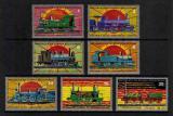 Poštovní známky Rovníková Guinea 1972 Lokomotivy Mi# 147-53