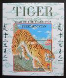 Poštovní známka Turkmenistán 1998 Tygr Mi# N/N