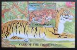 Poštovní známka Turkmenistán 1998 Tygři Mi# N/N