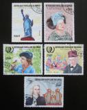 Poštovní známky Kongo 1985 Výročí a události Mi# 1008-12 Kat 10€