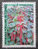 Poštovní známka Kongo 1990 Acalypha sanderi Mi# 1202