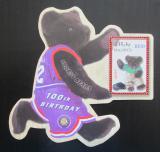 Poštovní známka Maledivy 2002 Plyšový medvídek, 100. výročí Mi# Block 531