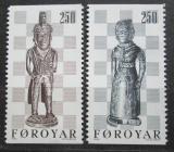 Poštovní známky Faerské ostrovy 1983 Šachové figurky Mi# 82-83