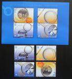 Poštovní známky Slovinsko 2005 Evropa CEPT Mi# 543-46 + Block 23