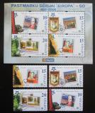 Poštovní známky Lotyšsko 2006 Evropa CEPT Mi# 652-55 + Block 21