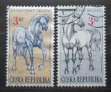 Poštovní známky Česká republika 1996 Koně z Kladrup Mi# 122-23