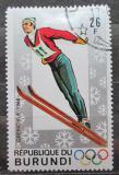 Poštovní známka Burundi 1968 ZOH Grenoble, skoky na lyžích Mi# 390