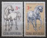Poštovní známky Česká republika 1996 Kladrubští koně Mi# 122-23