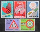Poštovní známky Ghana 1974 Řízení vpravo Mi# 572-76
