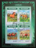 Poštovní známky Mosambik 2014 Koně Mi# 7380-83 Kat 11€