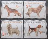 Poštovní známky Česká republika 2001 Psi Mi# 295-98