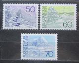 Poštovní známky Lichtenštejnsko 1973 Místní krajina Mi# 584-86