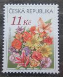 Poštovní známka Česká republika 2007 Gratulační kytice Mi# 510