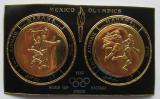 Poštovní známky Manáma 1968 LOH Mexiko, zlaté Mi# Block 43