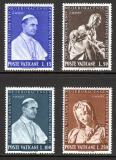 Poštovní známky Vatikán 1964 Papež Pavel VI. a socha od Michelangela Mi# 450-53