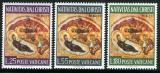 Poštovní známky Vatikán 1967 Vánoce Mi# 533-35
