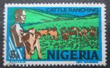 Poštovní známka Nigérie 1976 Stádo skotu Mi# 276 II X