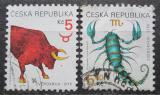 Poštovní známky Česká republika 1999 Znamení zvěrokruhu Mi# 240-41