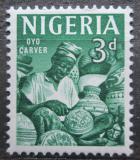 Poštovní známka Nigérie 1961 Řezbář Mi# 96
