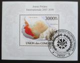 Poštovní známka Komory 2009 Lední medvěd Mi# Block 581 Kat 15€