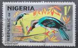 Poštovní známka Nigérie 1966 Ledňáček uzdičkový Mi# 183 A