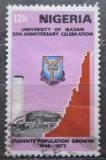 Poštovní známka Nigérie 1973 Univerzita Ibadan, 25. výročí Mi# 297
