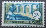 Poštovní známka Francouzská Rovníková Afrika 1940 Drvoštěp z Mayumbe Mi# 29