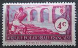 Poštovní známka Francouzská Rovníková Afrika 1937 Drvoštěp z Mayumbe Mi# 30