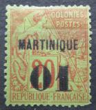 Poštovní známka Martinik 1888 Koloniální alegorie přetisk Mi# 3 Kat 24€