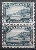 Poštovní známky Kanada 1929 Most v Quebecu pár Mi# 135 Kat 32€