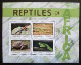 Poštovní známky Uganda 2014 Obojživelníci a plazi Mi# 3200-03 Kat 14€