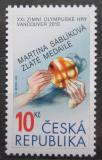 Poštovní známka Česká republika 2010 Zlatá medaile Martiny Sáblíkové Mi# 625