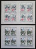 Poštovní známky Česká republika 2010 Krásy naší vlasti Mi# 636-37 Bogen
