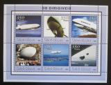 Poštovní známky Guinea-Bissau 2001 Vzducholodě Mi# 1779-84 Kat 9€