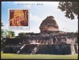 Poštovní známka Guinea-Bissau 2003 Architektura Mayské říše Mi# Block 399 Kat 12€