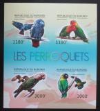 Poštovní známky Burundi 2012 Papoušci neperf. Mi# 2813-16 B