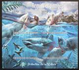 Poštovní známky Burundi 2012 Žralok bílý neperf. Mi# 2550-53 B