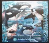 Poštovní známky Burundi 2012 Velké ryby neperf. Mi# 2595-98 B