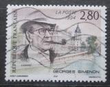 Poštovní známka Francie 1994 Georges Simenon, spisovatel Mi# 3055
