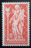 Poštovní známka Lichtenštejnsko 1965 Dřevěná socha madony Mi# 449 Kat 13€