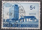 Poštovní známka Kolumbie 1955 Hotel a kostel v Bogotě Mi# 741
