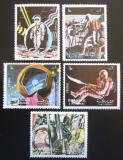 Poštovní známky Šardžá 1972 Mise Apollo 17 Mi# 988-92