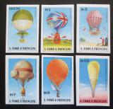 Poštovní známky Svatý Tomáš 1979 Létající balóny neperf. Mi# 619-24 B Kat 26€
