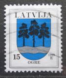 Poštovní známka Lotyšsko 1999 Znak Ogre Mi# 495 I