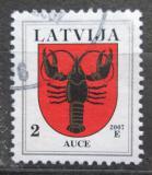 Poštovní známka Lotyšsko 2007 Znak Auce Mi# 421 D IX